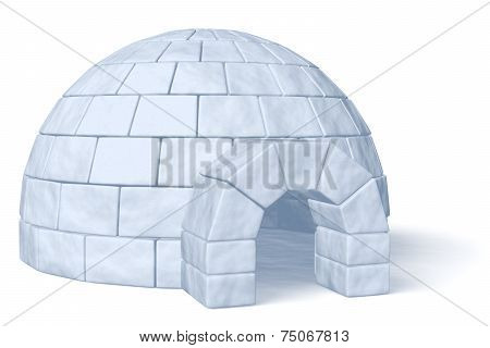 Igloo Icehouse On White