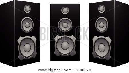 Black Speaker White Background.eps