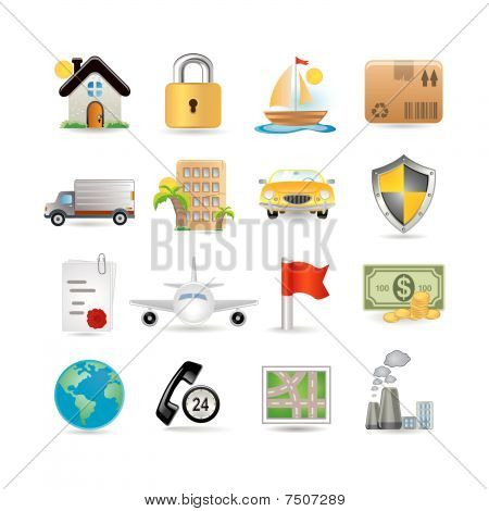 Versicherung Icon-set
