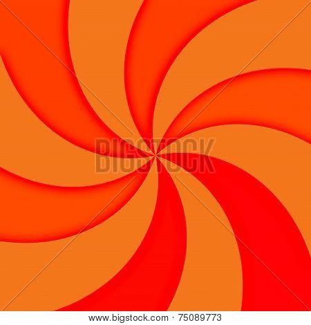 Orange and red rays