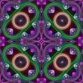 Multicolored symmetrical grid fractal pattern. Computer generated graphics. poster