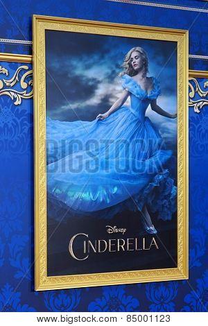 LOS ANGELES - MAR 1:  Cinderella Poster at the
