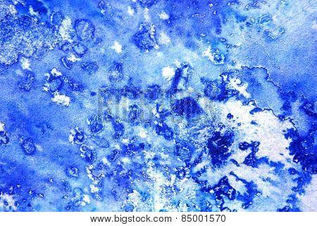 Blue Macro Watercolor 3