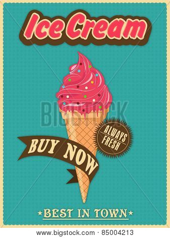 Best in town vintage menu card design for ice cream parlor or restaurant.