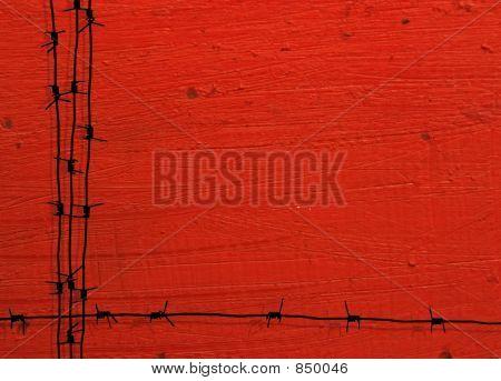 grunge barbed wire frame
