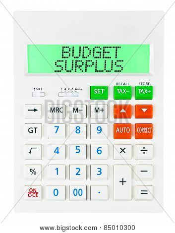 Calculator With Budget Surplus