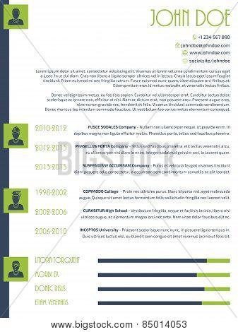 Simplistic Modern Resume Cv Design