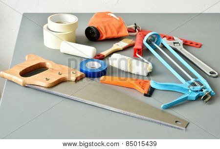 DIY tools on a table