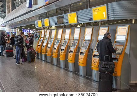Self Check in Machines at the airport