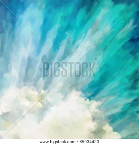 Blue abstract artistic background