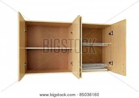 Cupboards isolated on white background