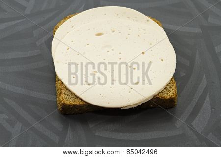 Fresh Slices from Chicken with Brown Toast bread
