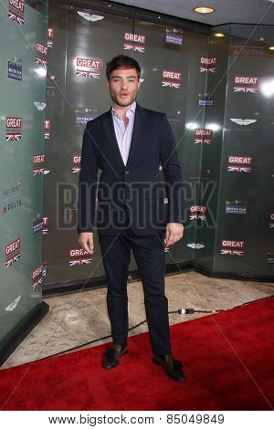 LOS ANGELES - FEB 20:  Ed Westwick at the GREAT British Film Reception Honoring The British Nominees Of The 87th Annual Academy Awards at a London Hotel on February 20, 2015 in West Hollywood, CA