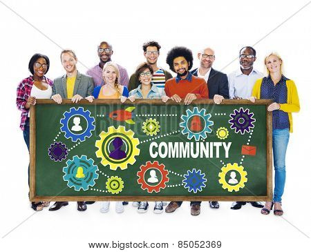 Community Culture Society Population Team Tradition Union Concept poster