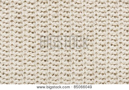 white knitted wool macro photo