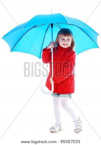 cute little girl in red coat