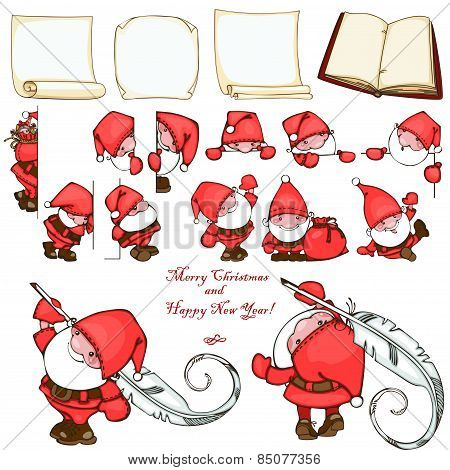 Christmas set Santa Claus.
