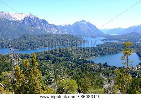 Overview of Nahuel Huapi national park and Lake - Argentina