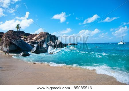 The Baths landmark at Virgin Gorda (Tortola) - Caribbean
