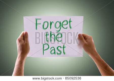 Forget the Past card with green background