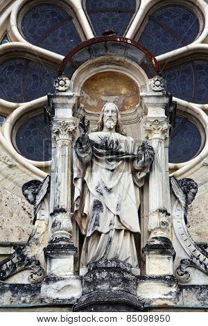 MARIJA BISTRICA, CROATIA - JULY14: Jesus Christ Almighty, basilica Assumption of the Virgin Mary in Marija Bistrica, Croatia, on July 14, 2014