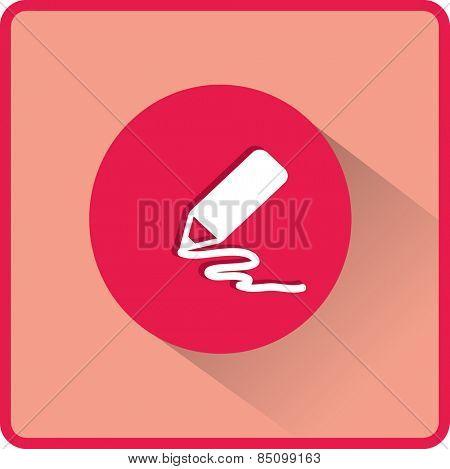 Stock Vector Illustration. Pencil icon. Flat vector illustration