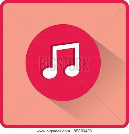 Flat Vector Note icon. Stock Vector Illustration.