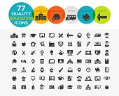High Quality Education Icons including: teaching, University and college, Online study and more.. poster