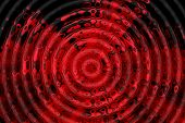 Red and black ripple pattern. Abstract background. poster