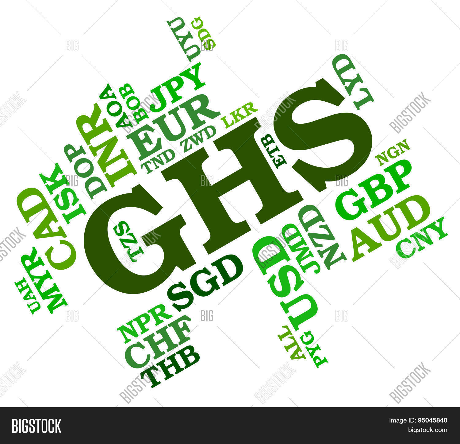 Ghs Currency Means Image Photo Free Trial Bigstock