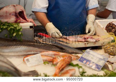 Man Preparing Fish