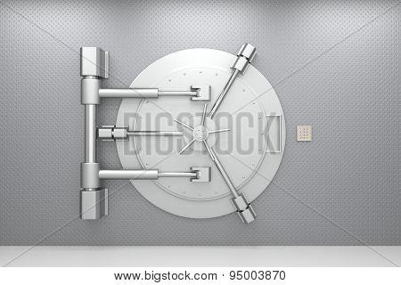 Bank vault door.