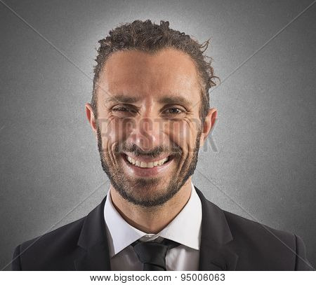 Smiling expression businessman