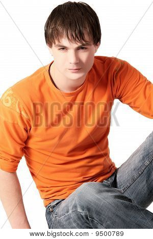 Young Man In Orange