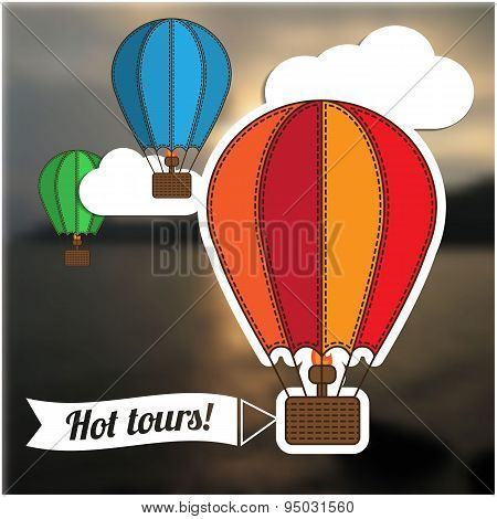 Hot tour template, the flying balloon