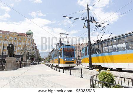 Trams In Sofia, Bulgaria