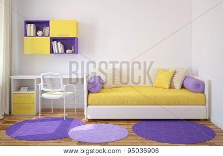 Interior Of Playroom.
