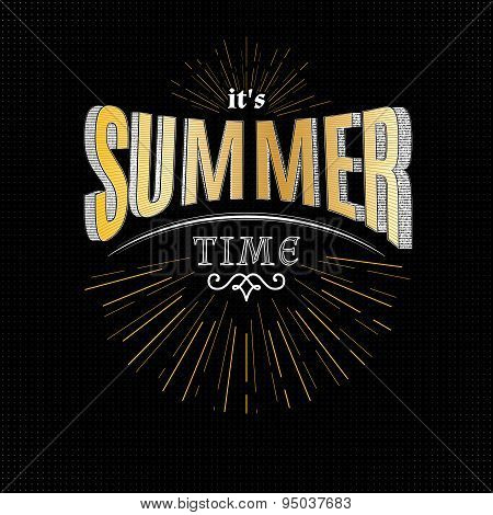 Summer time badges logos and labels for any use
