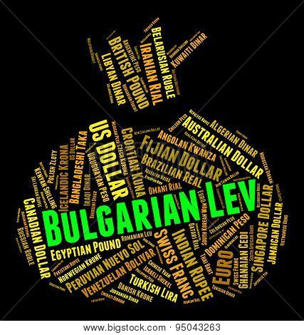 Bulgarian Lev Meaning Currency Exchange And Words poster