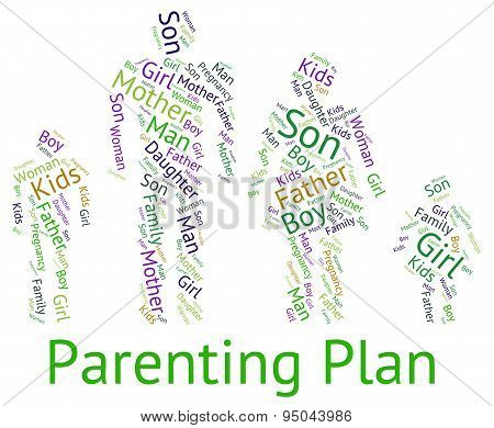 Parenting Plan Meaning Mother And Baby And Mother And Child poster