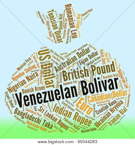 Venezuelan Bolivar Means Worldwide Trading And Coin