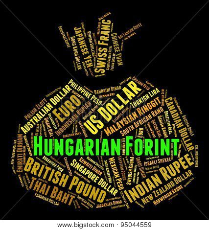 Hungarian Forint Shows Foreign Exchange And Currencies