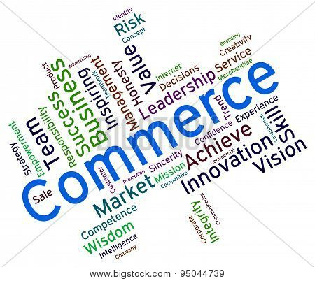Commerce Words Indicating E-Commerce Import And Selling poster