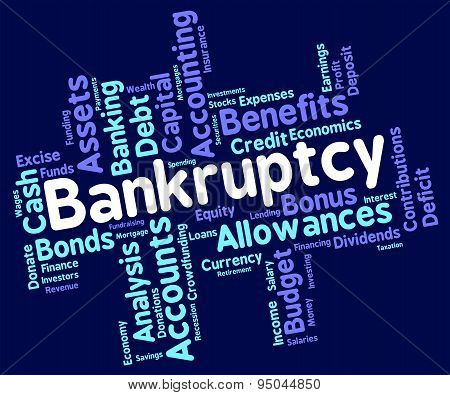 Bankruptcy Word Meaning Bad Debt And Wordcloud poster