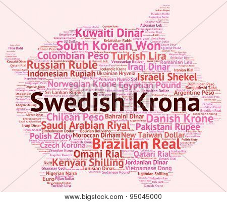 Swedish Krona Representing Foreign Exchange And Sek poster