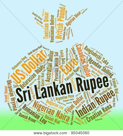 Sri Lankan Rupee Shows Currency Exchange And Banknotes