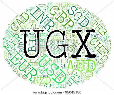 Ugx Currency Indicates Forex Trading And Coin