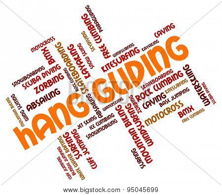 Hang Gliding Means Hanggliders Words And Glide