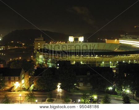 Neyland Stadium at night