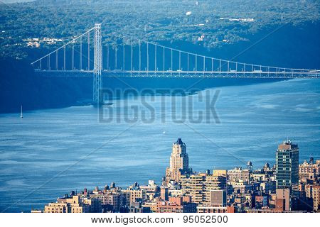Upper West Side With George Washington Bridge And Hudson River